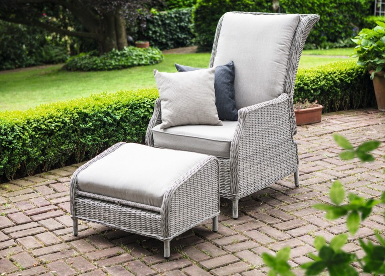 Kettler Jarvis Recliner + Footstool : recliner chairs for garden - islam-shia.org