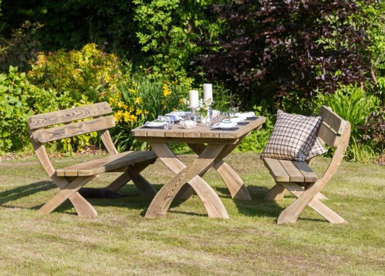 Zest Harriet Table & Bench Set